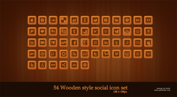 54wooden-style-social-icons