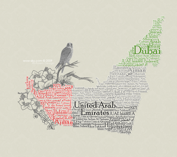 UAE Typography Map