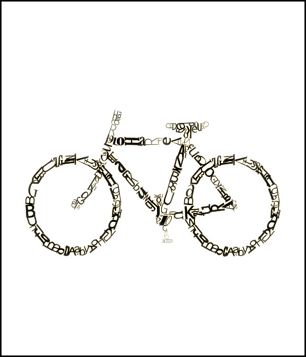 Bicycle Typography
