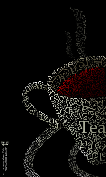Cop Of Tea In Typography
