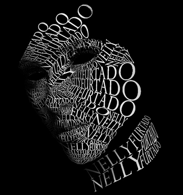 Typography Portrait 3 by Steve Butabi