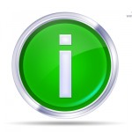 Green Info icon PSD