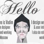 Simple & Clean Black and white designer portfolio website