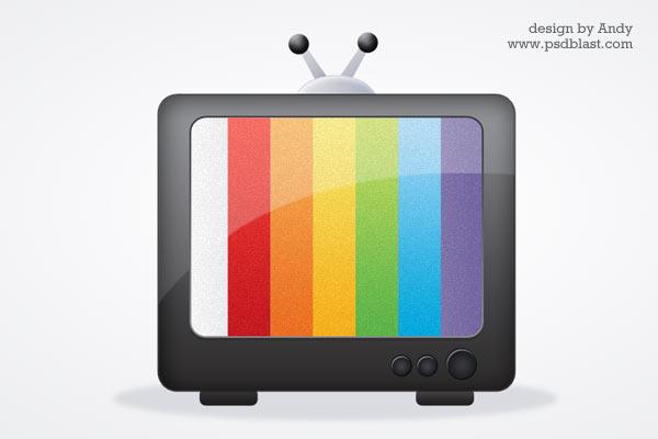 Glossy media icon