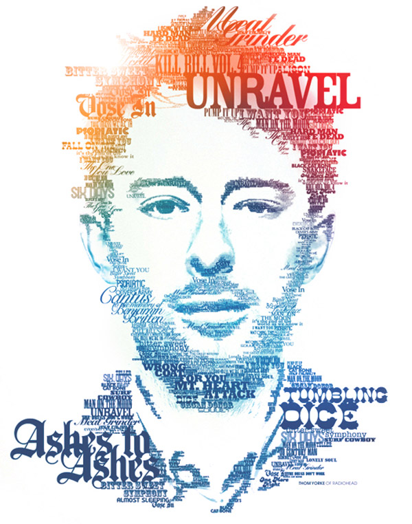thomyorketypography portrait