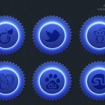 Blue color social icon