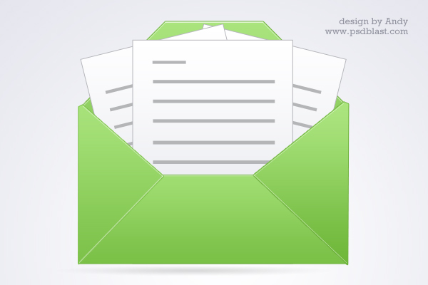 green open mail icon