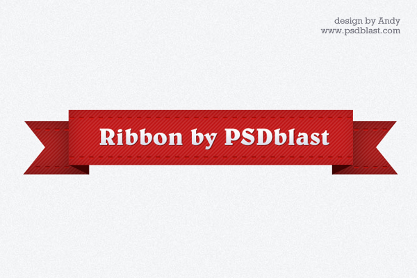 Red Ribbon Graphic PSD