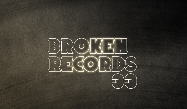 Broken Records font