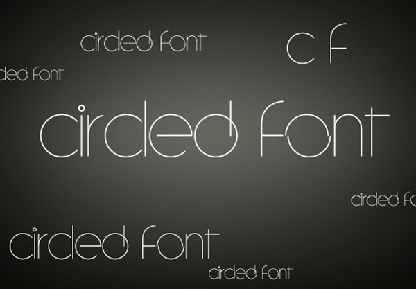 Circled Font