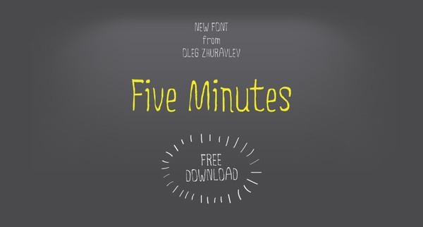 Five Minutes Free Font