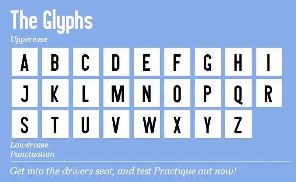 Practique font