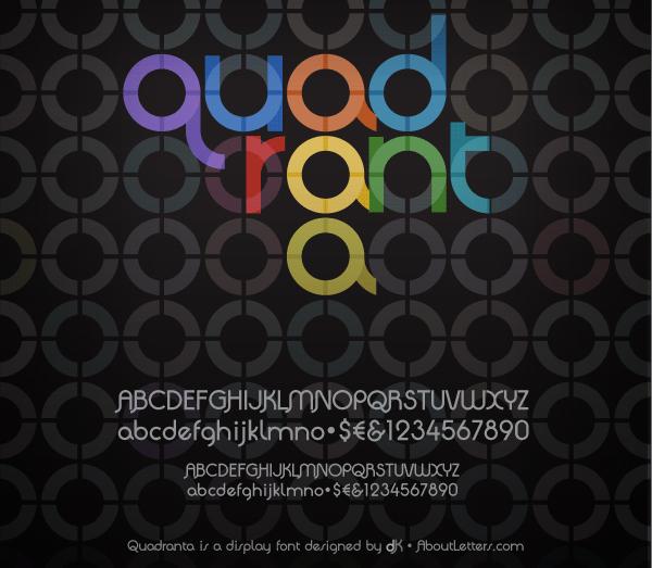 Quadranta free font