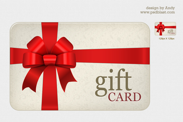 High Resolution Gift Card Psd  Psdblast