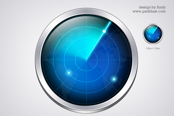 Radar icon PSD