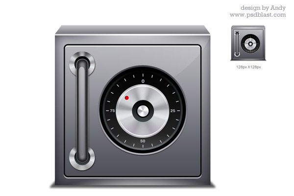 High resolution Safe icon PSD