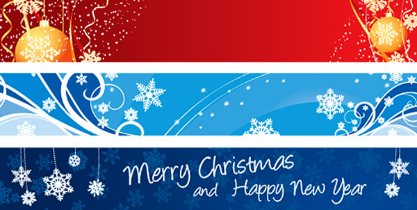 Christmas Banners Vector Graphic by dryicons