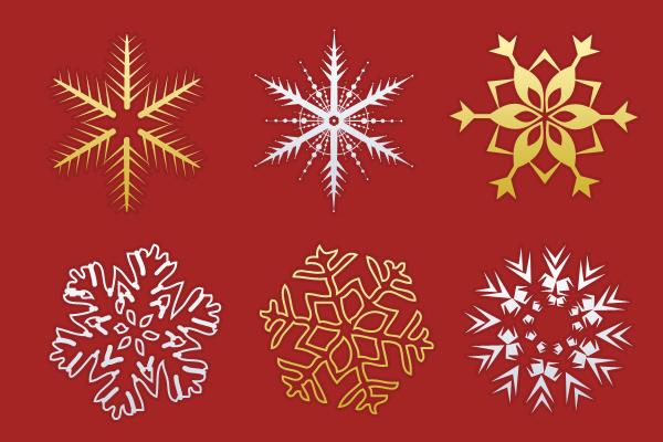 Christmas snowflakes psdblast
