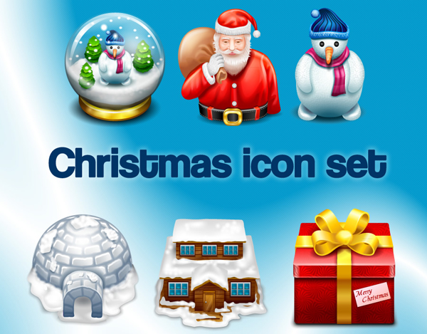 Christmas icon set by iconshock