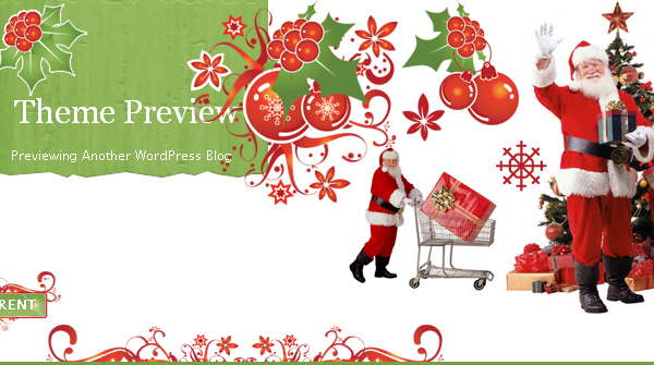 Free Christmas 2008 WordPress theme