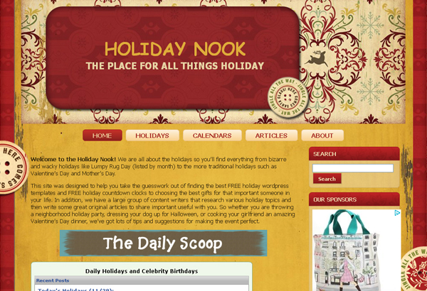 Free Red & Gold Christmas WordPress Theme
