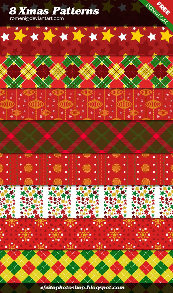 8 Xmas Photoshop Patterns