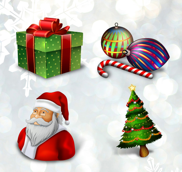 Holiday Seasonal Icons from Tutorial 9