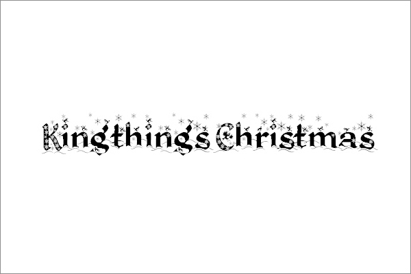 Kingthings Christmas font by Kingthings