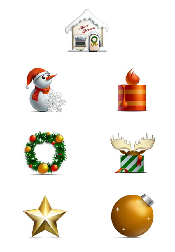 Merry Christmas icons by jj-maxer