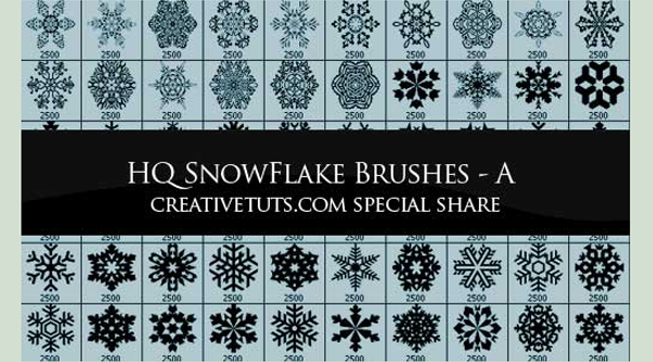Snowflakes Photoshop Brushes