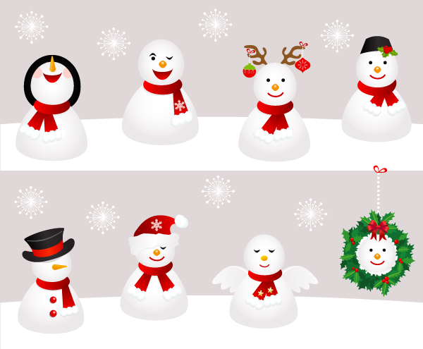 Snowmen Icons by DaPino