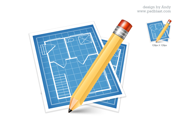 Architectural blue print icon psd psdblast for Architecture icon