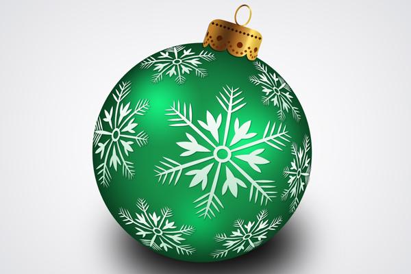 Christmas hanging ball psd psdblast