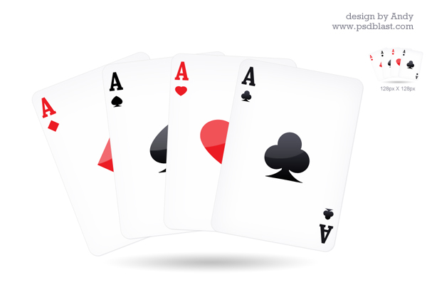 playing card icon psdblast. Black Bedroom Furniture Sets. Home Design Ideas