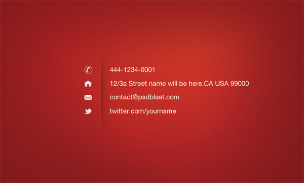 Red color business card template psdblast red business card template front red business card template back accmission Gallery