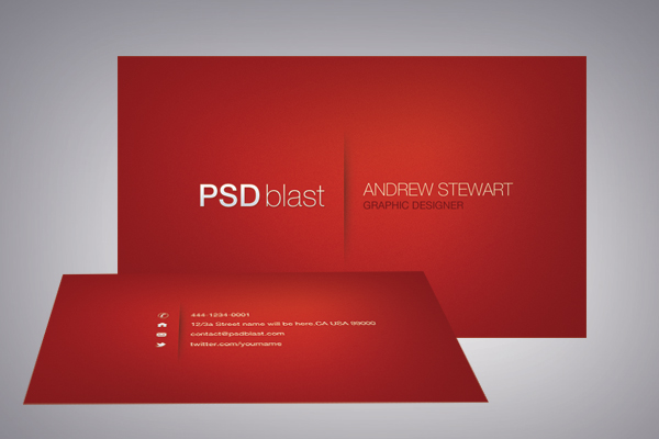 Red color business card template psdblast red business card template fbccfo