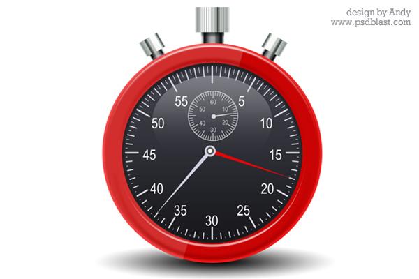 stopwatch psd