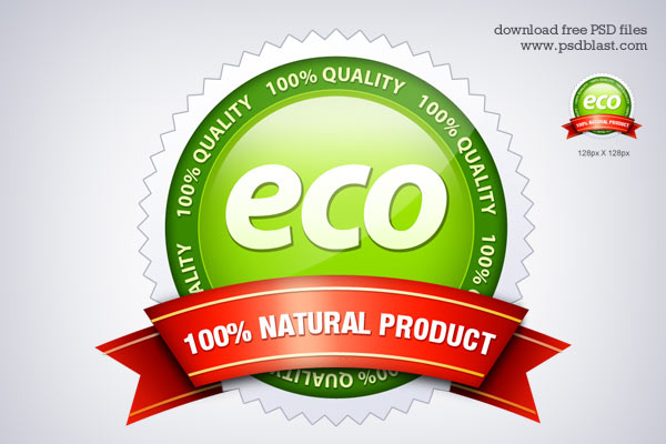 Eco Friendly Seal icon (PSD)