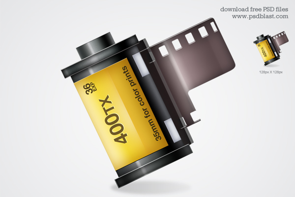 Film roll icon ( PSD)