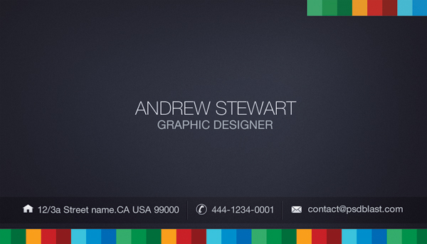 front side business card