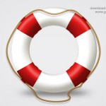 Help icon, life belt PSD