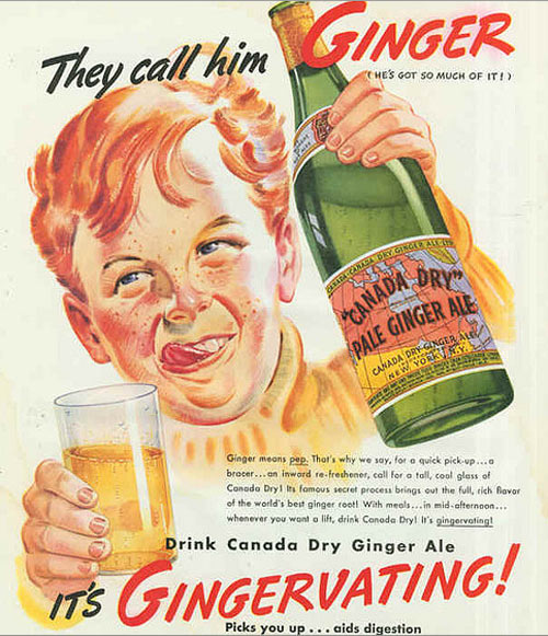 Canada Dry Ginger Ale Vintage Advertisement