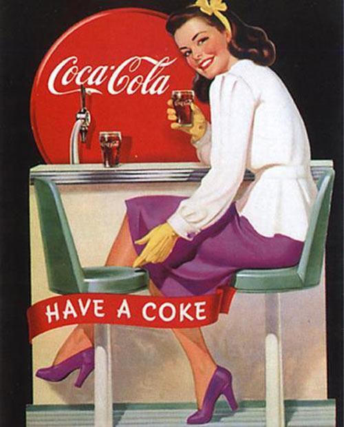 Coca Cola Vintage advertisements