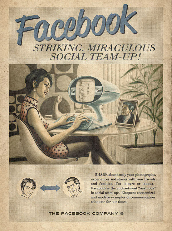 Facebook vintage advertisement Designed by advertising agency Moma