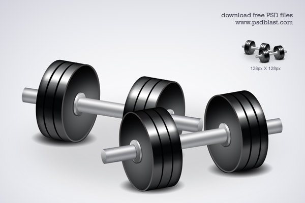 Fittness icon dumbbell workouts