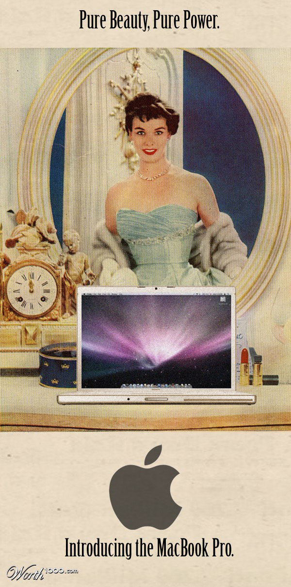 Macbook Pro vintage advertisement