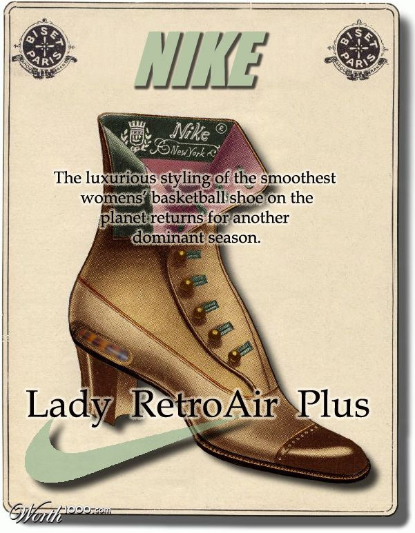 Nike vintage advertisement retro air+