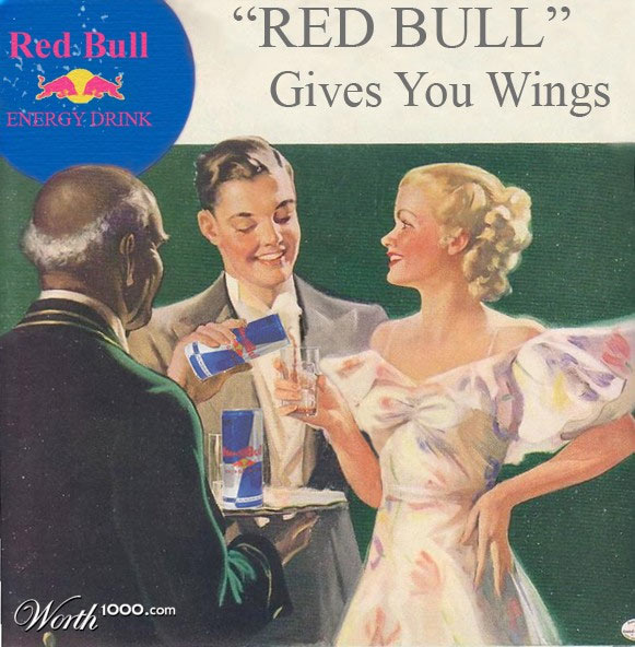 Red Bull Vintage Advertisement