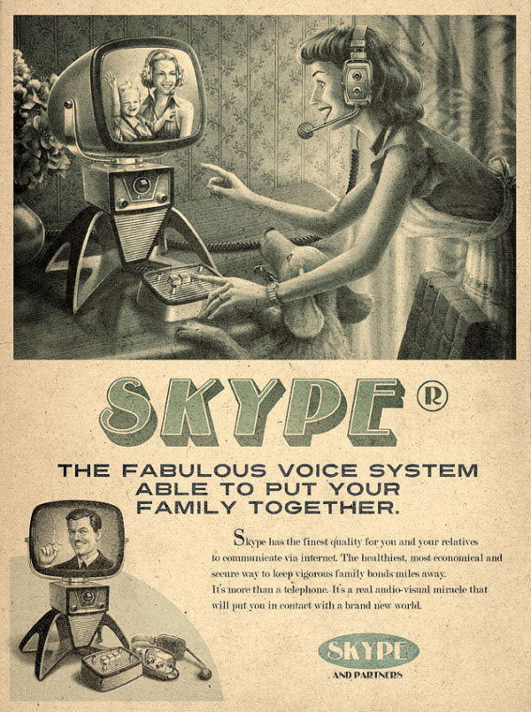 Skype Vintage Designed by advertising agency Moma