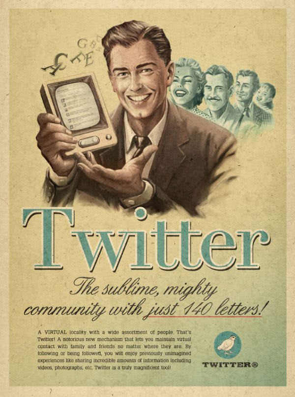 Twitter Vintage Designed by advertising agency Moma